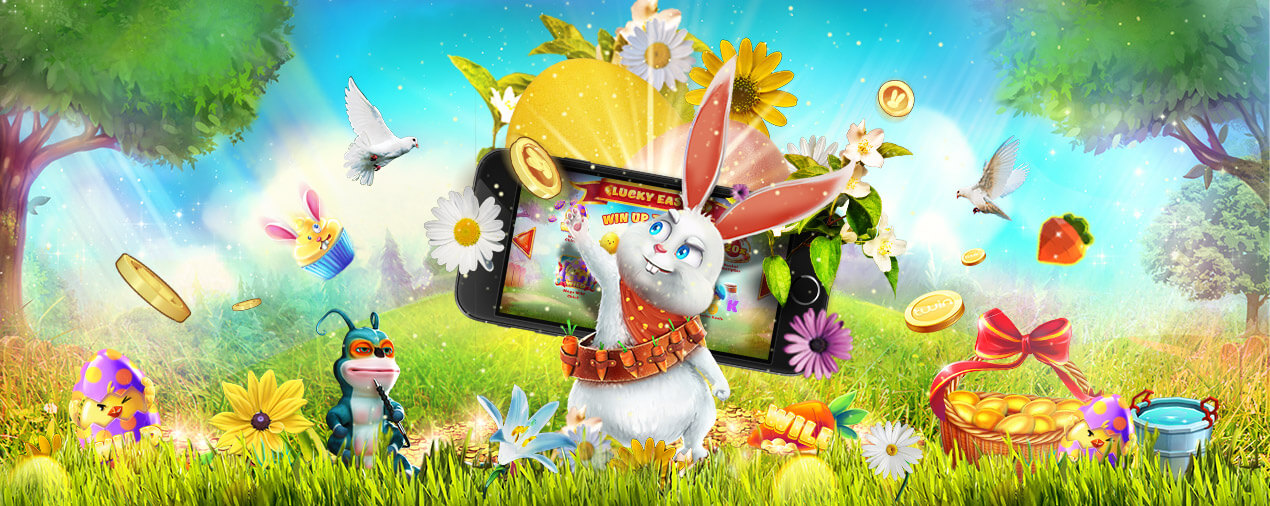 easter bunny slot game with mobile phone